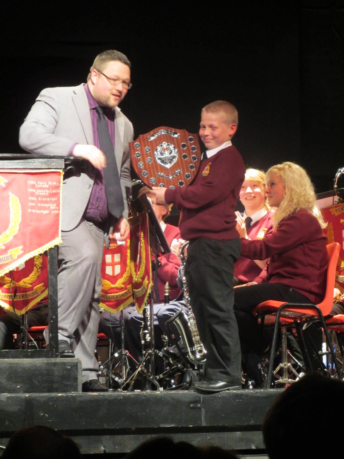 Ben Parker receives the most improved player award