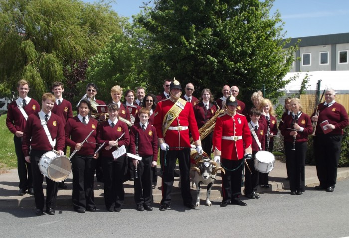 Tenbury Town Band support the annual WFRA reunion 1st June